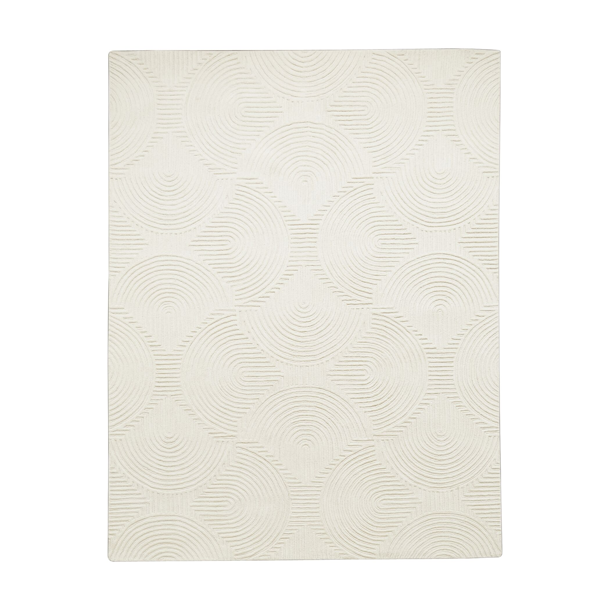 Arches Hand-Tufted Wool Ivory Area Rug Size: 8' x 10'