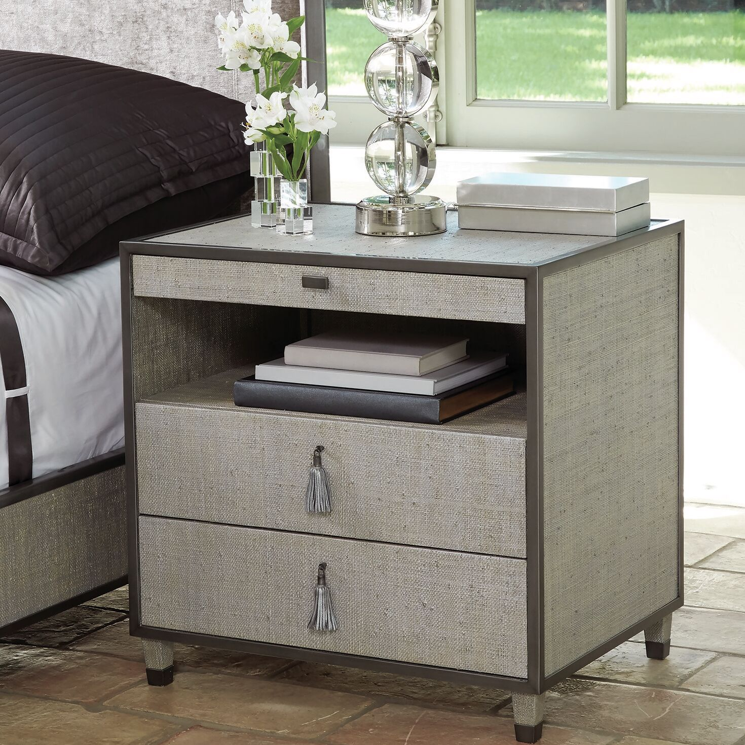 Argento 2 Drawer Nightstand