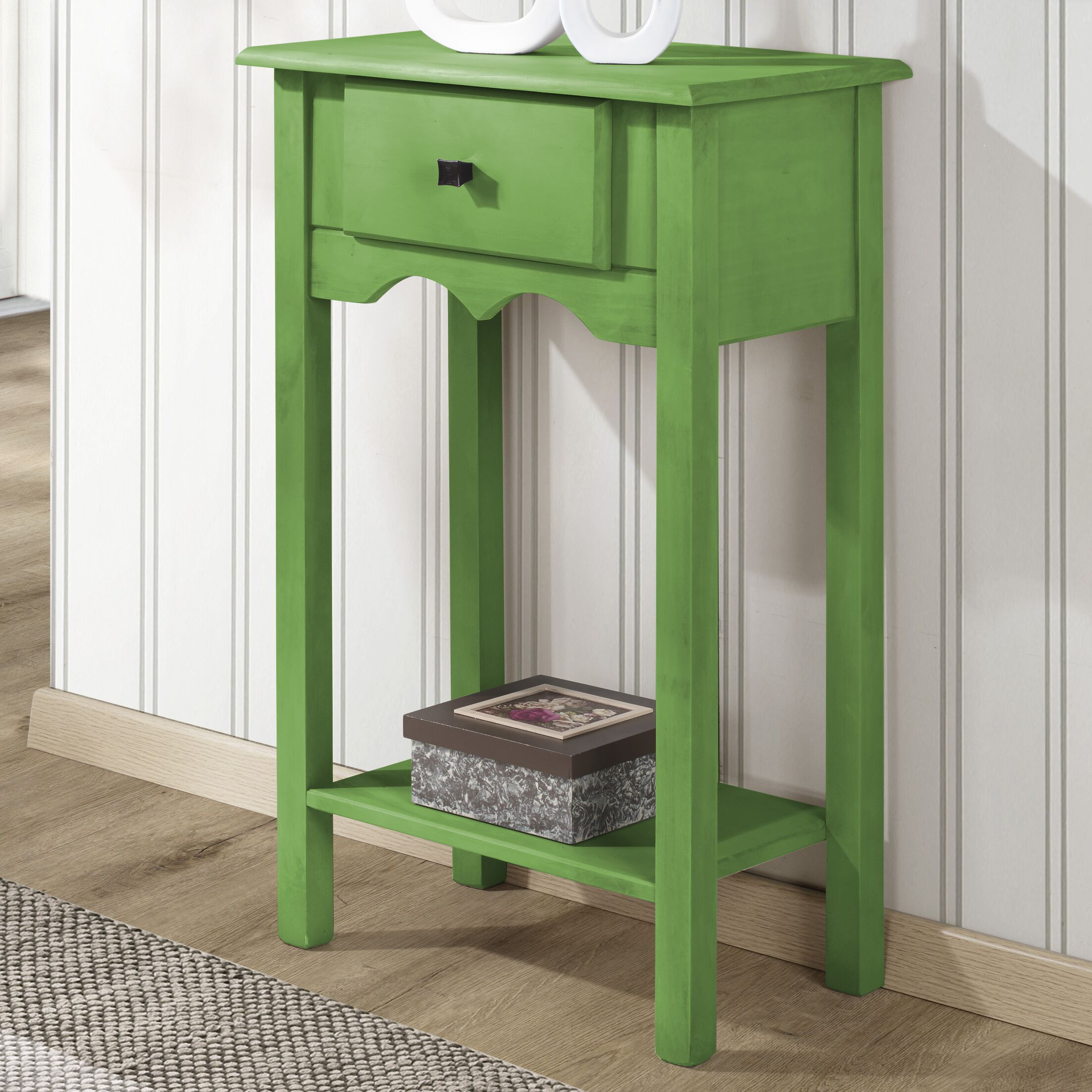 Pinard End Table Color: Green Wash