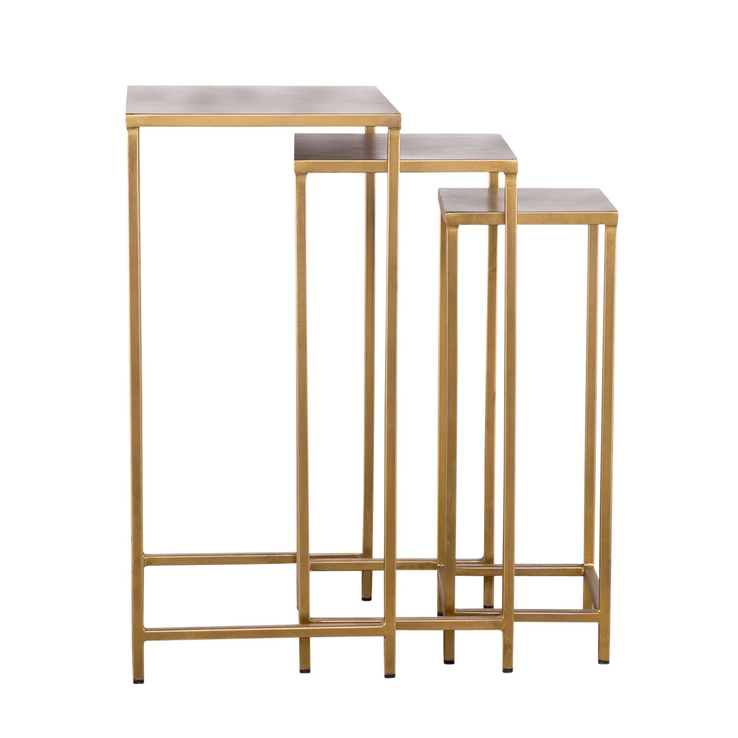 Margr 3 Piece Nesting Tables Color: Brass