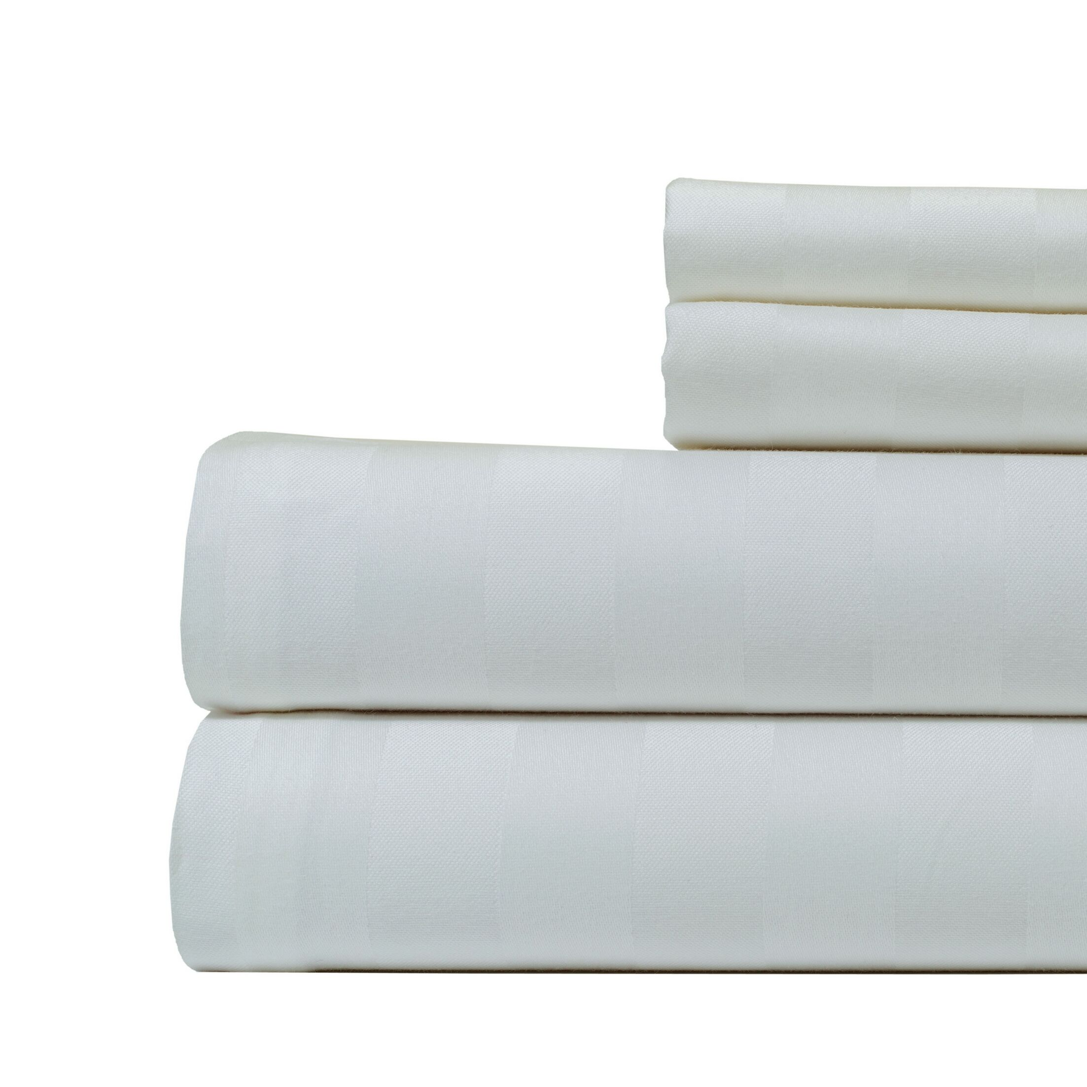 4 Piece 500 Thread Count Egyptian Quality Cotton Sheet Set Color: White, Size: California King