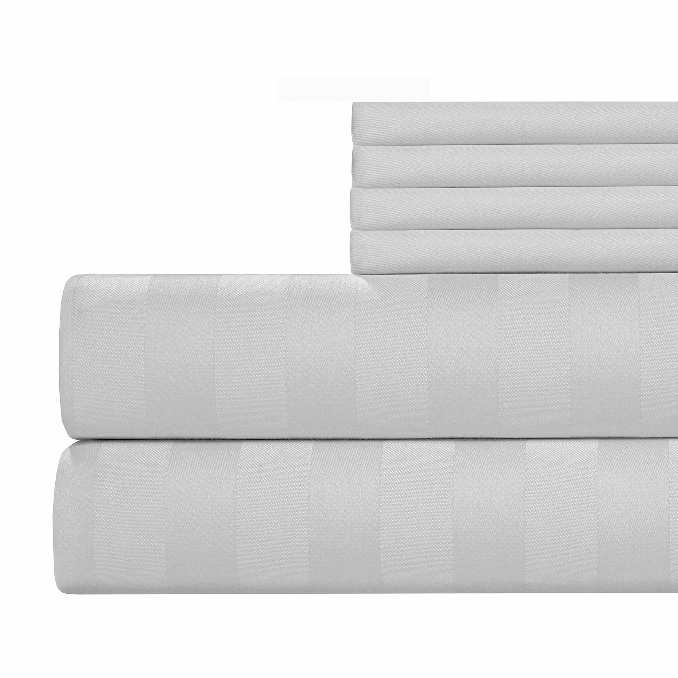 6 Piece 500 Thread Count Egyptian Quality Cotton Sheet Set Color: White, Size: Queen