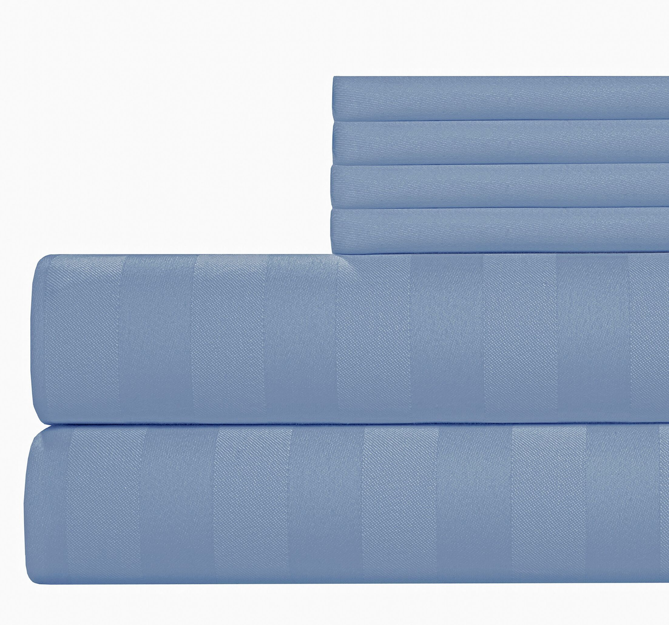 6 Piece 500 Thread Count Egyptian Quality Cotton Sheet Set Size: King, Color: Blue