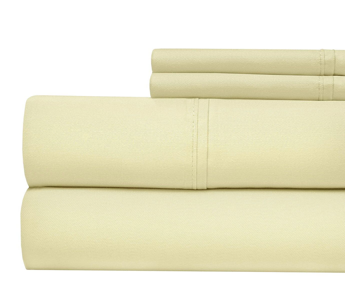 Luxury 1000 Thread Count Sheet Set Color: Ivory, Size: King