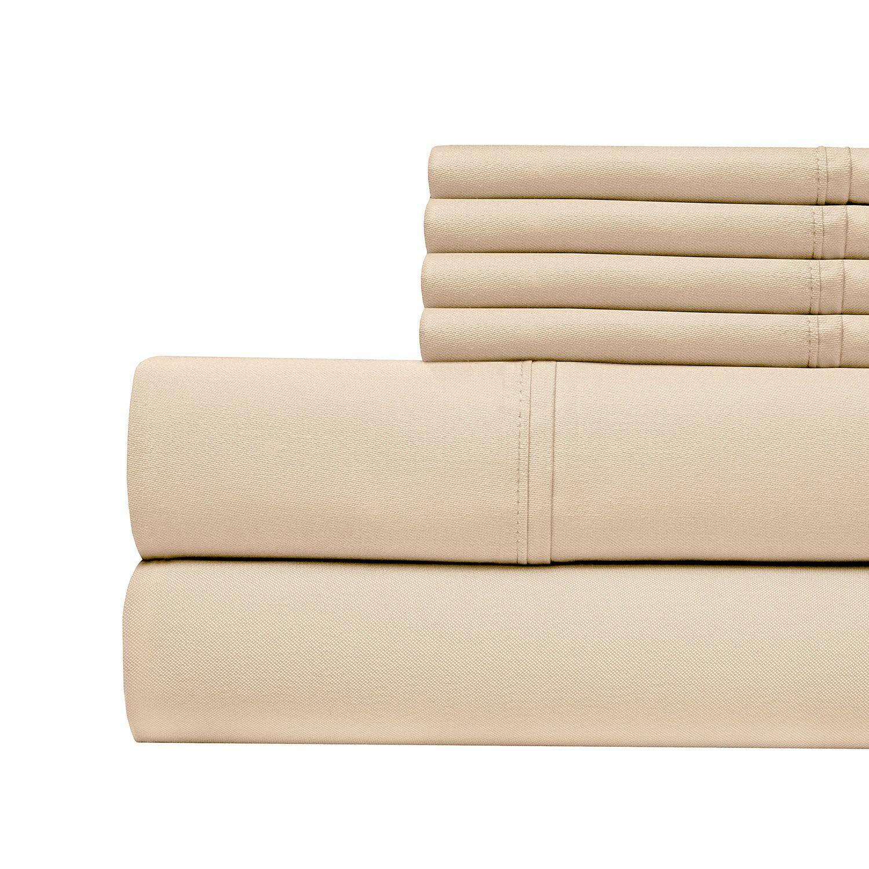 400 Thread Count Cotton Sateen Sheet Set Size: Queen, Color: Pebble