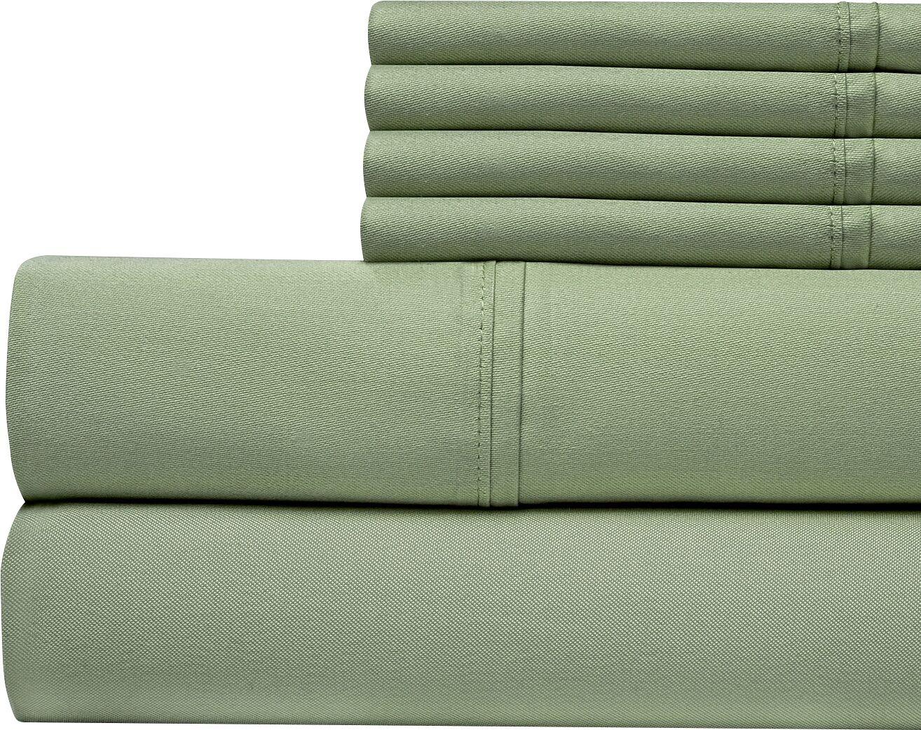 400 Thread Count Cotton Sateen Sheet Set Size: Queen, Color: Sage