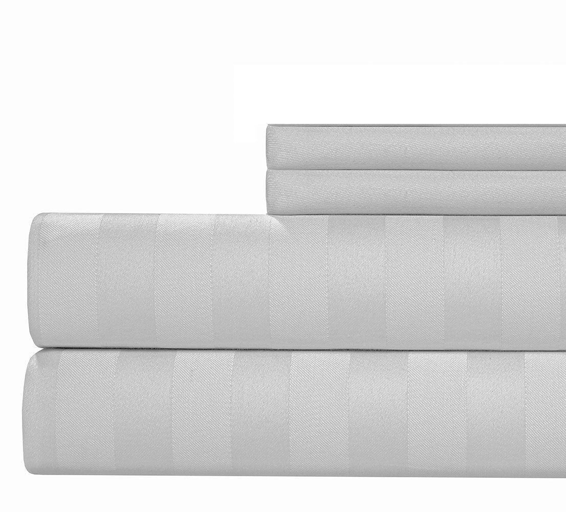 4 Piece 1000 Thread Count Sheet Set Color: White, Size: King