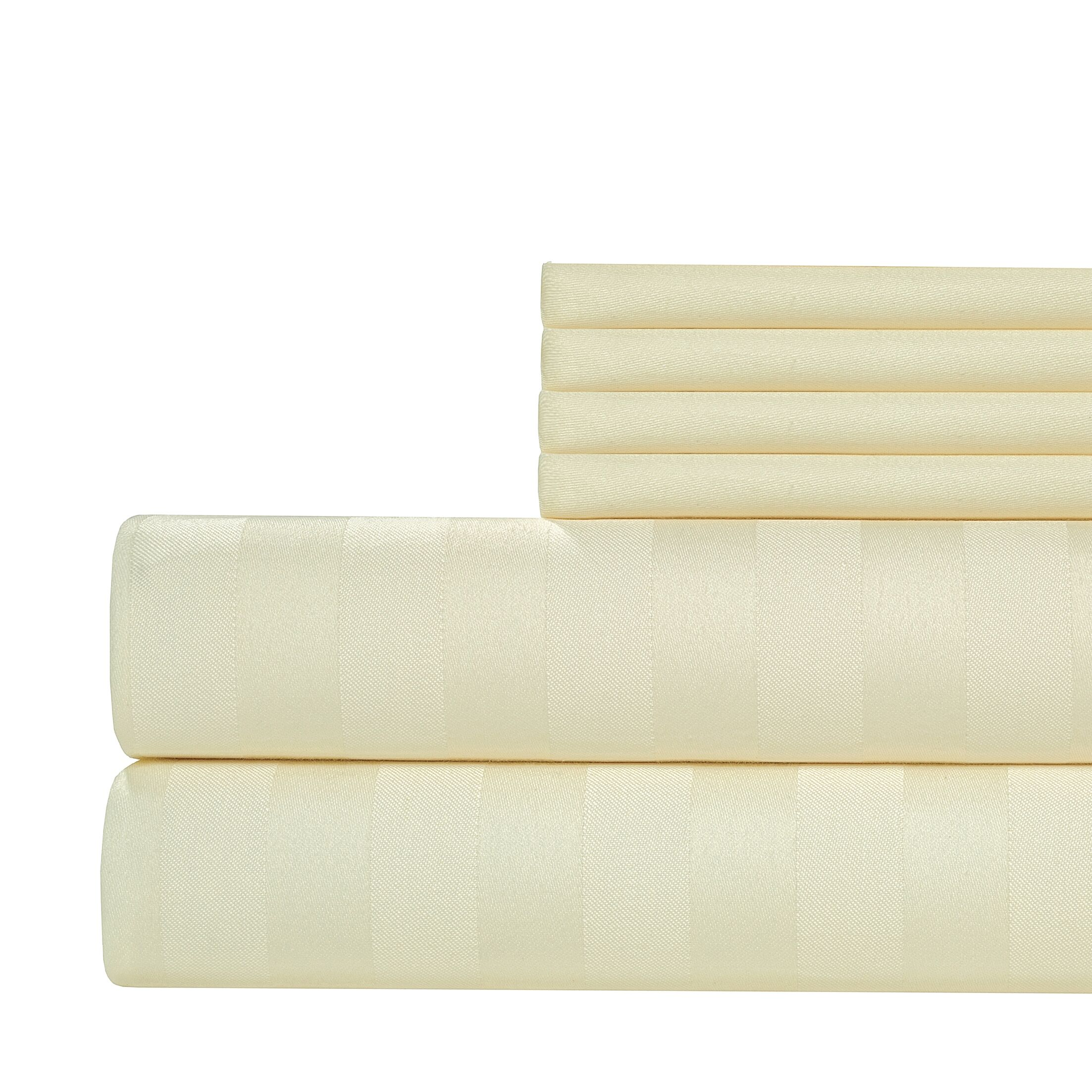 6 Piece 1000 Thread Count Sheet Set Size: California King, Color: Ivory