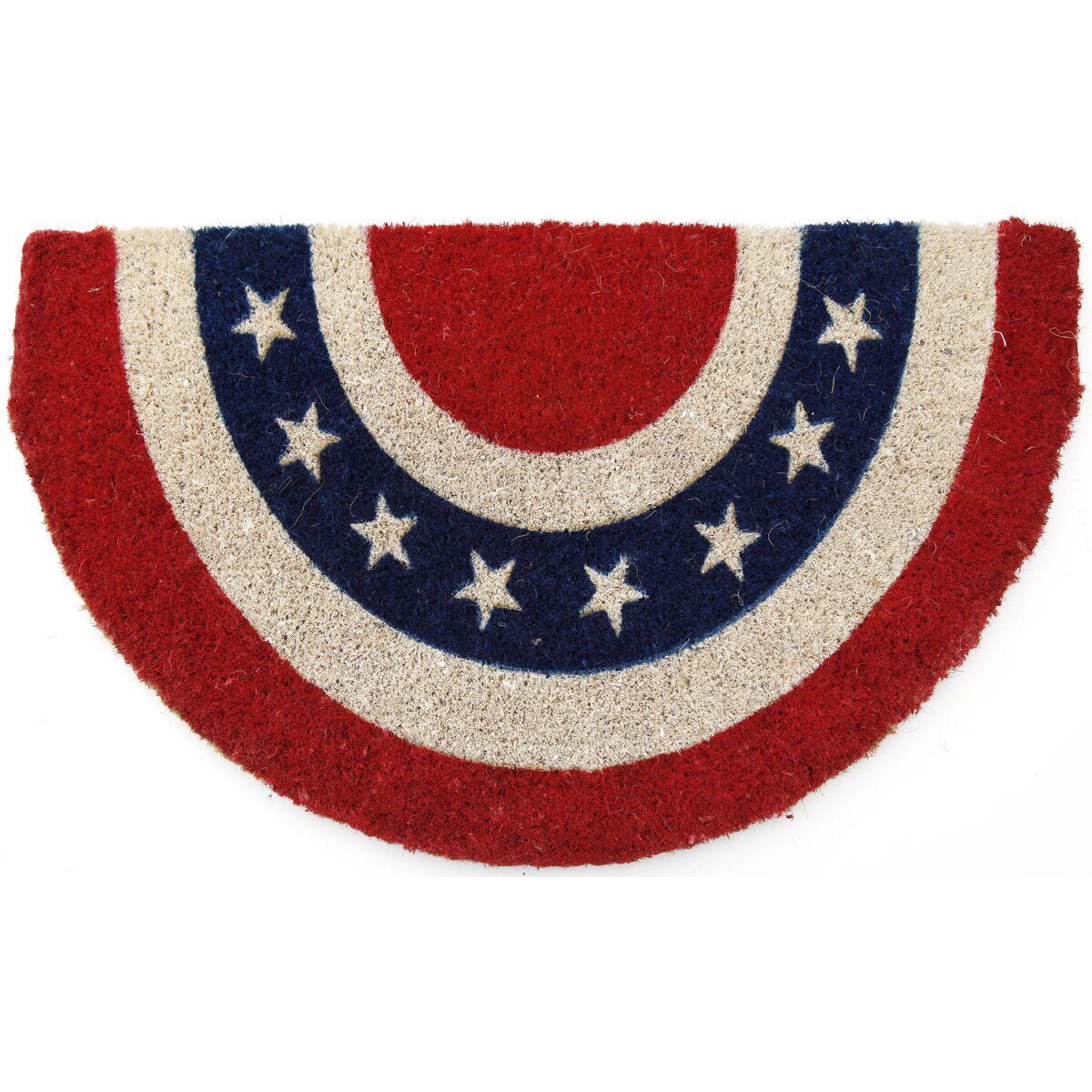 Gassin Americana Doormat Mat Size: Semi-Circle 18