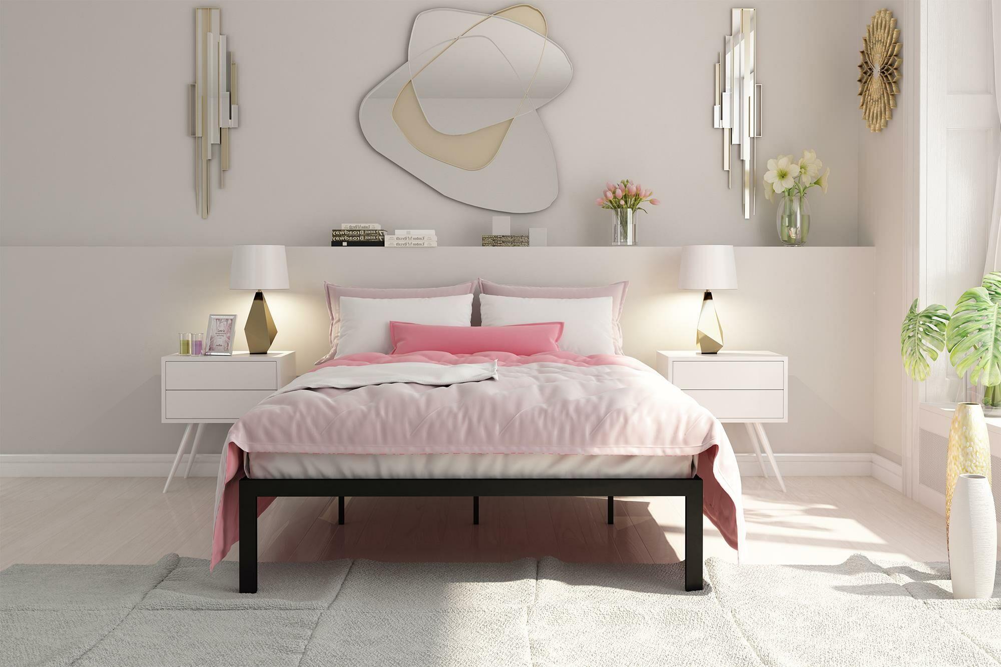 Nageshwar Metal Frame Platform Bed Size: Queen, Color: Black