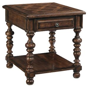 Normandie Manor End Table with Storage