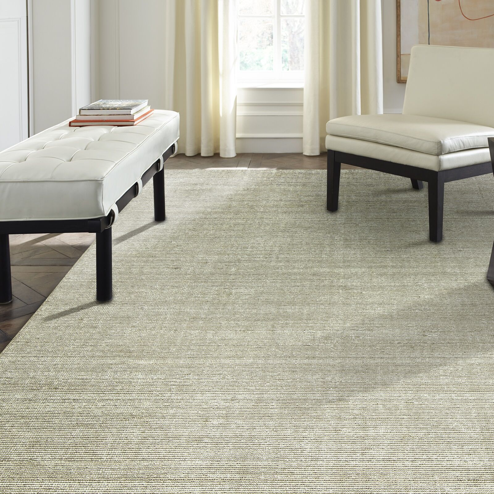 Gainer Nickel Hand-Woven Gray Area Rug Rug Size: 3'6