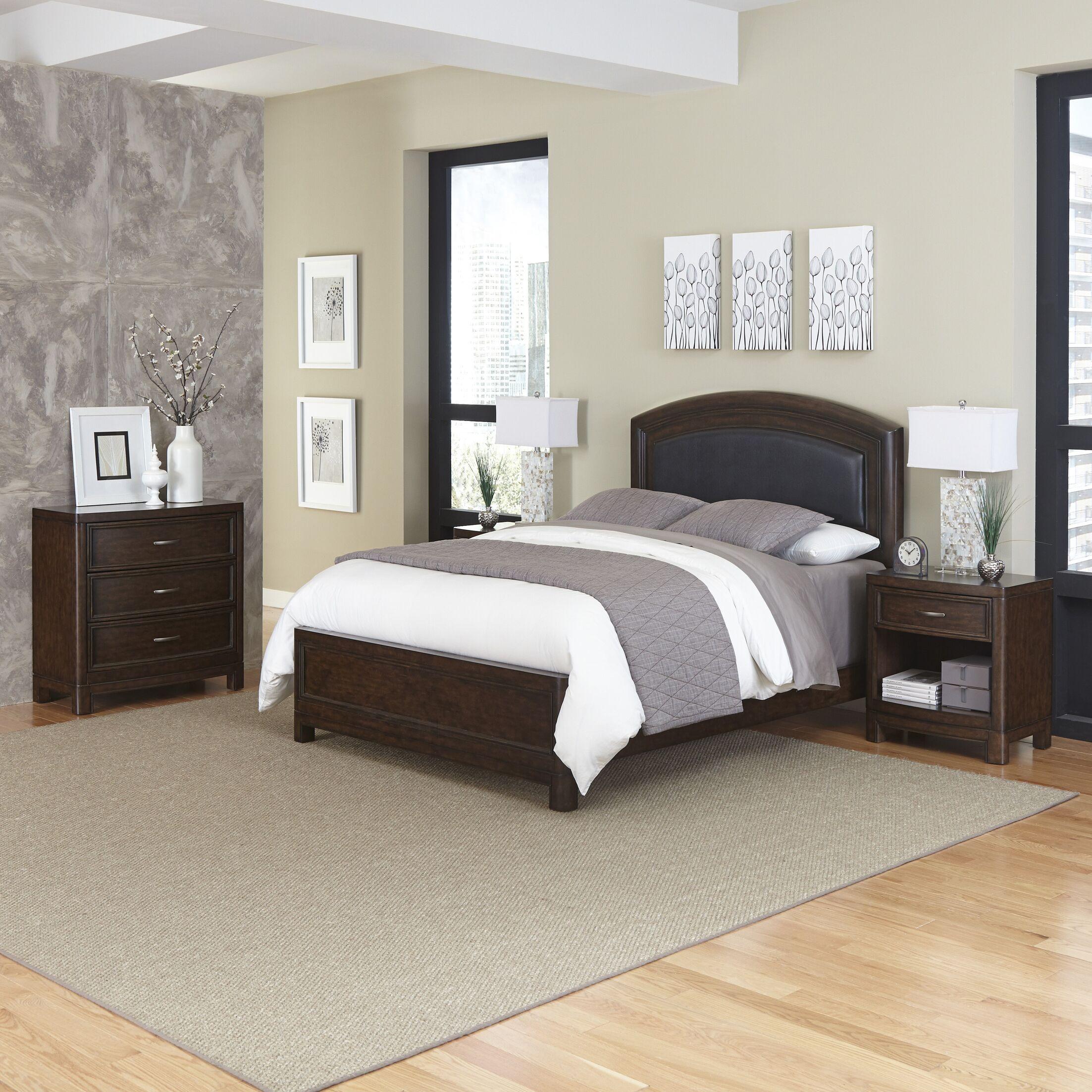 Crescent Hill Panel 4 Piece Bedroom Set Size: Queen