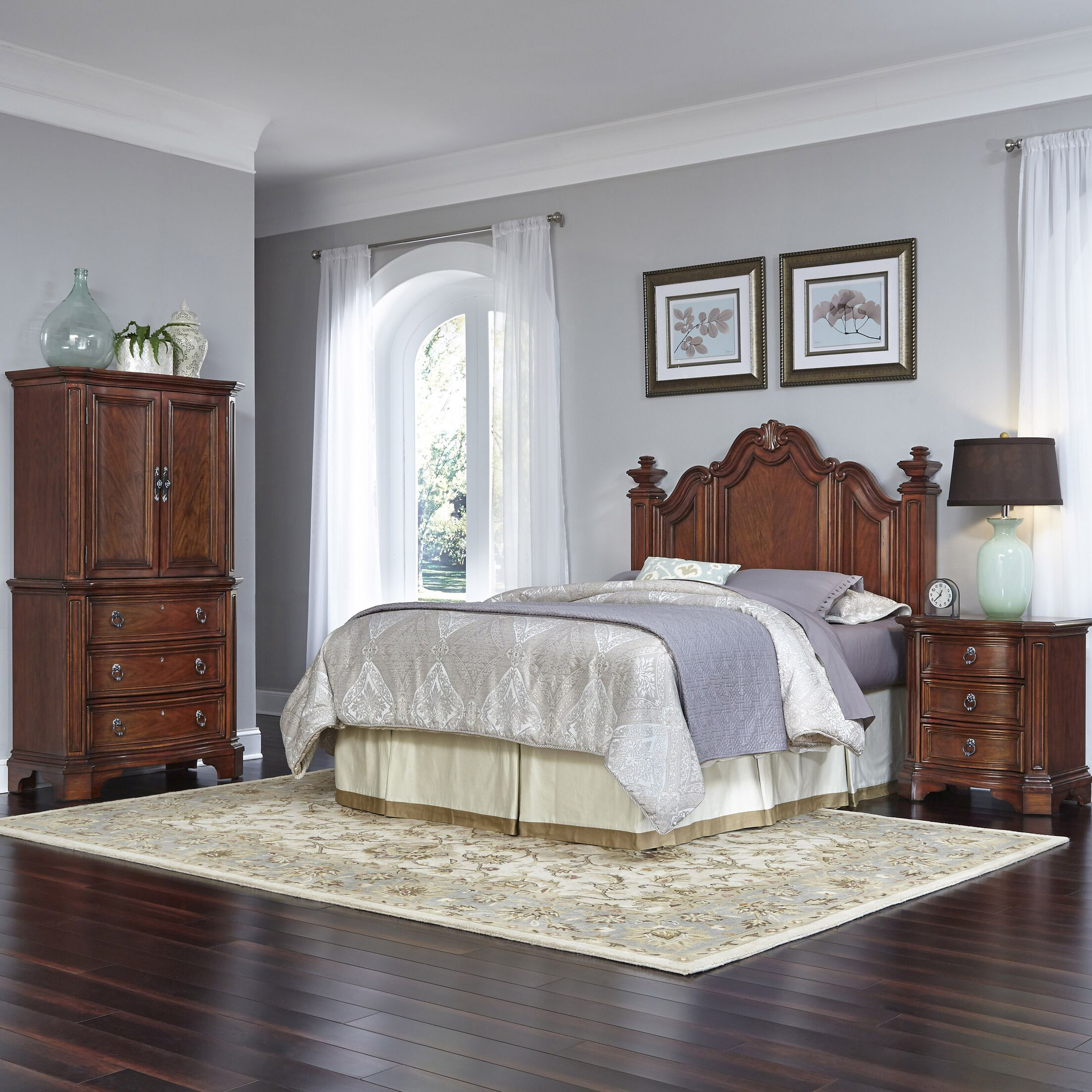 Santiago Platform 4 Piece Bedroom Set Size: Queen/Full