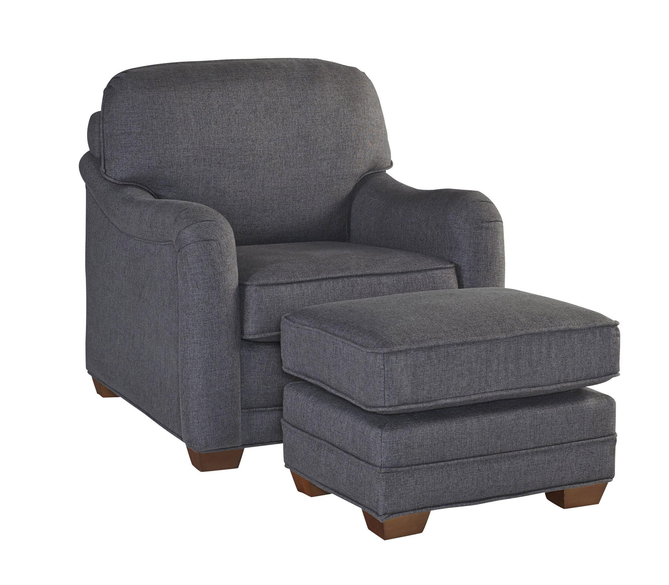 Stationary Armchair and Ottoman Upholstery: Light Gray
