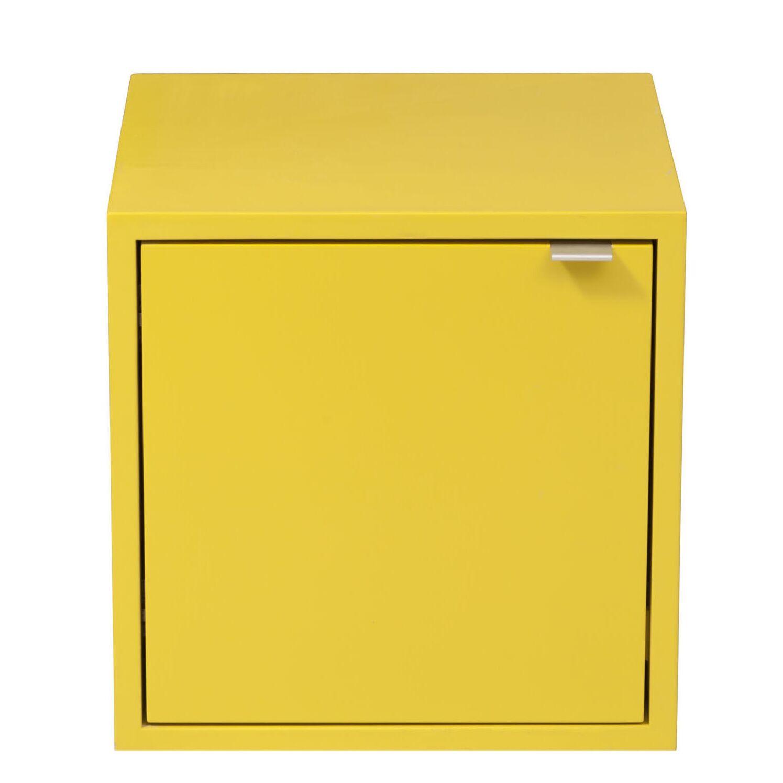 Media Multimedia Cabinet Wood Veneer: Maple, Color: Washed