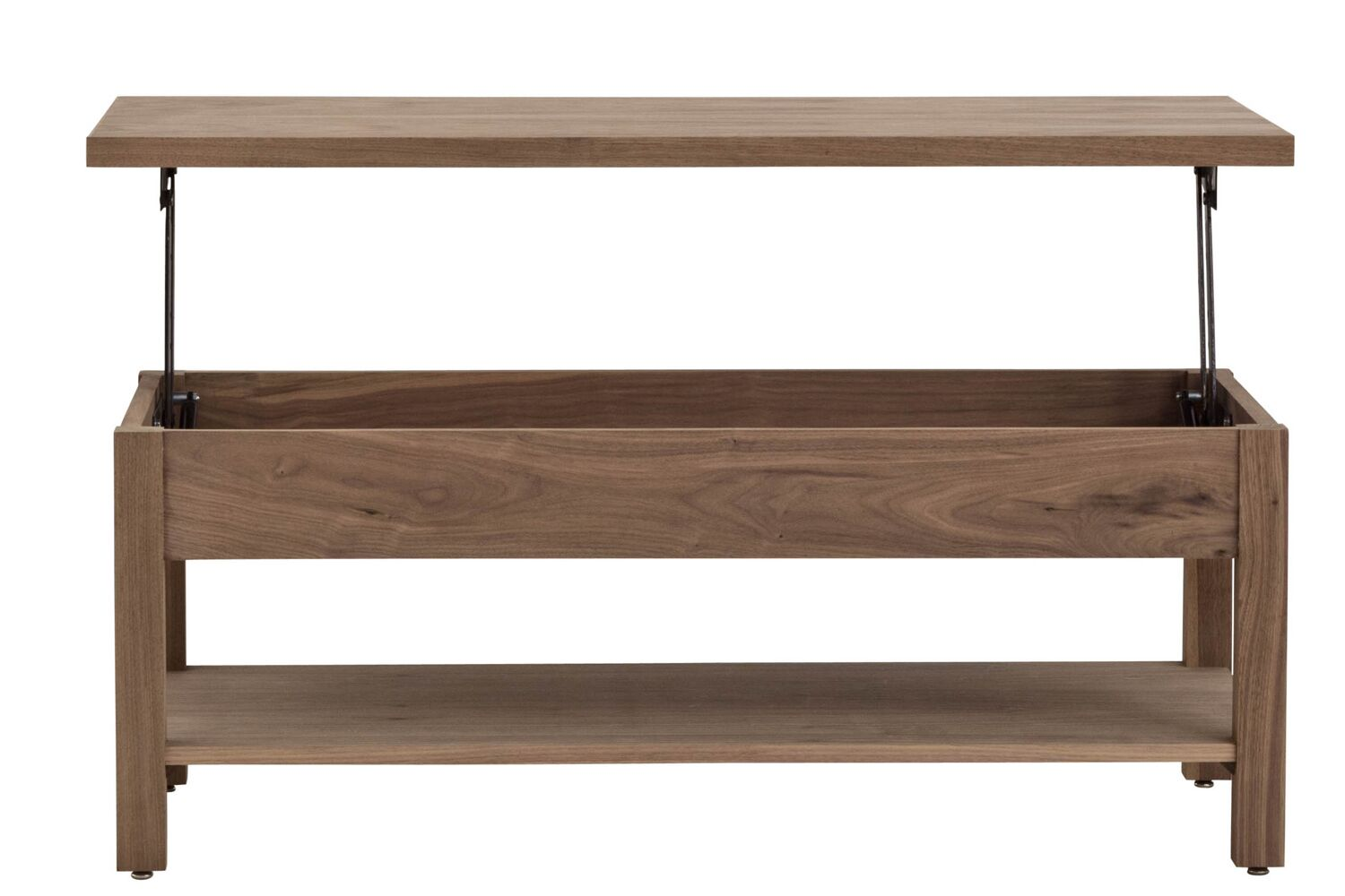 Arwood Unfolding Coffee Table Color: Walnut Clear
