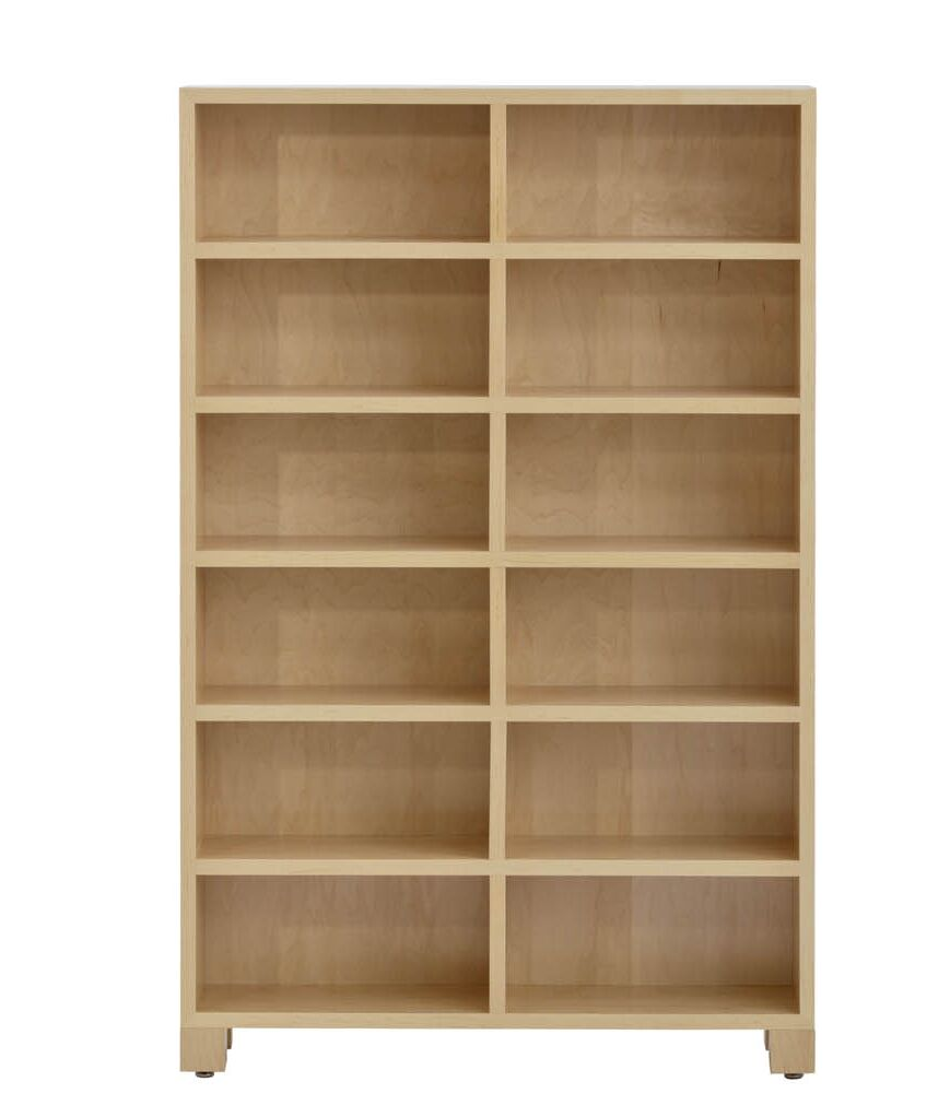 CD Storage Multimedia Cabinet with 6 Tiers Color: Maple Washed
