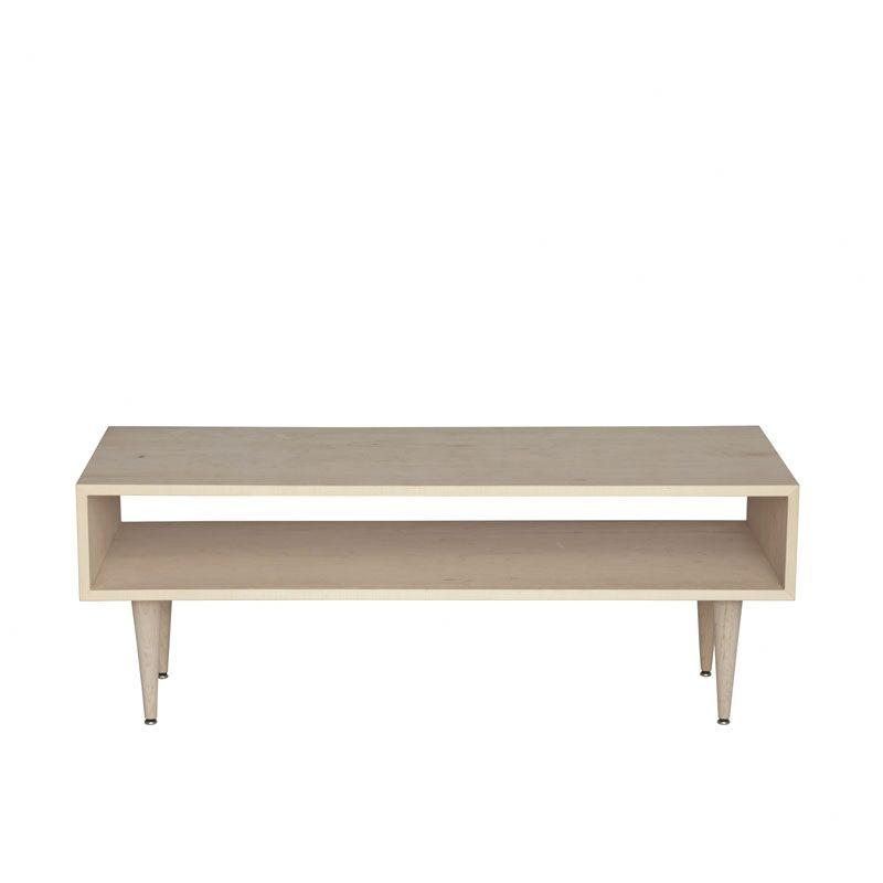 Midcentury Coffee Table Wood Veneer: Painted Eco-MDF, Color: Grey