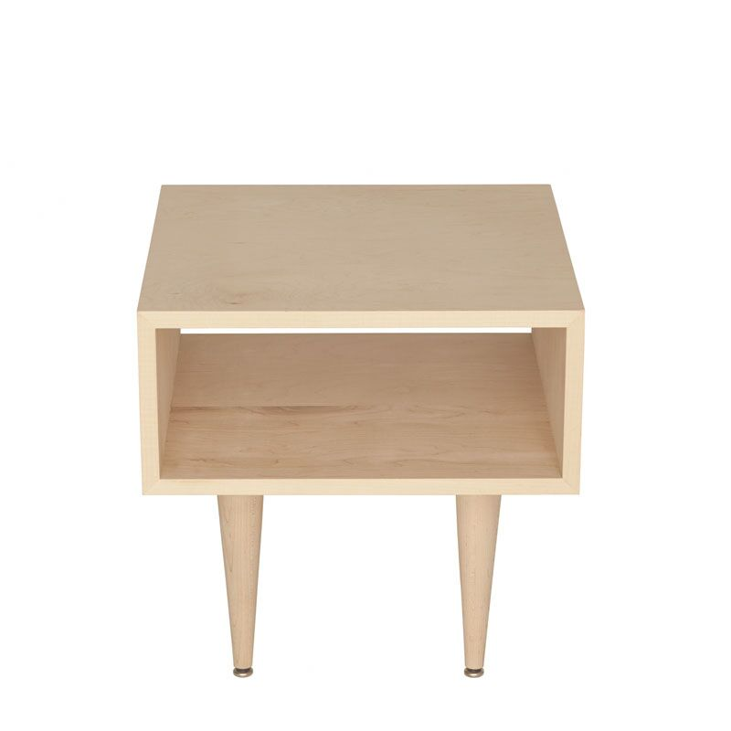 Midcentury End Table Color: Yellow, Wood Veneer: Painted Eco-MDF