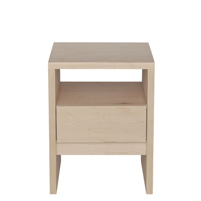Kadon End Table Color: Clear, Wood Veneer: Walnut