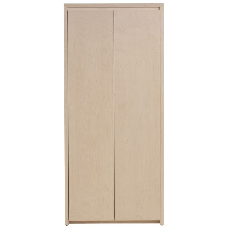 Kadon Armoire Wood Veneer: Maple, Finish: White