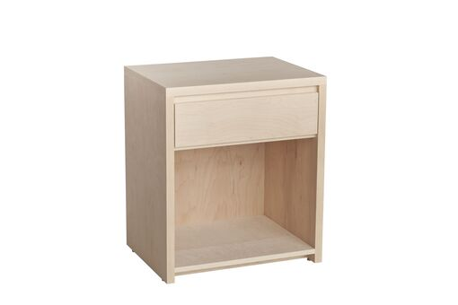 Kadon 1 Drawer Nightstand Wood Veneer: Maple, Color: Amber