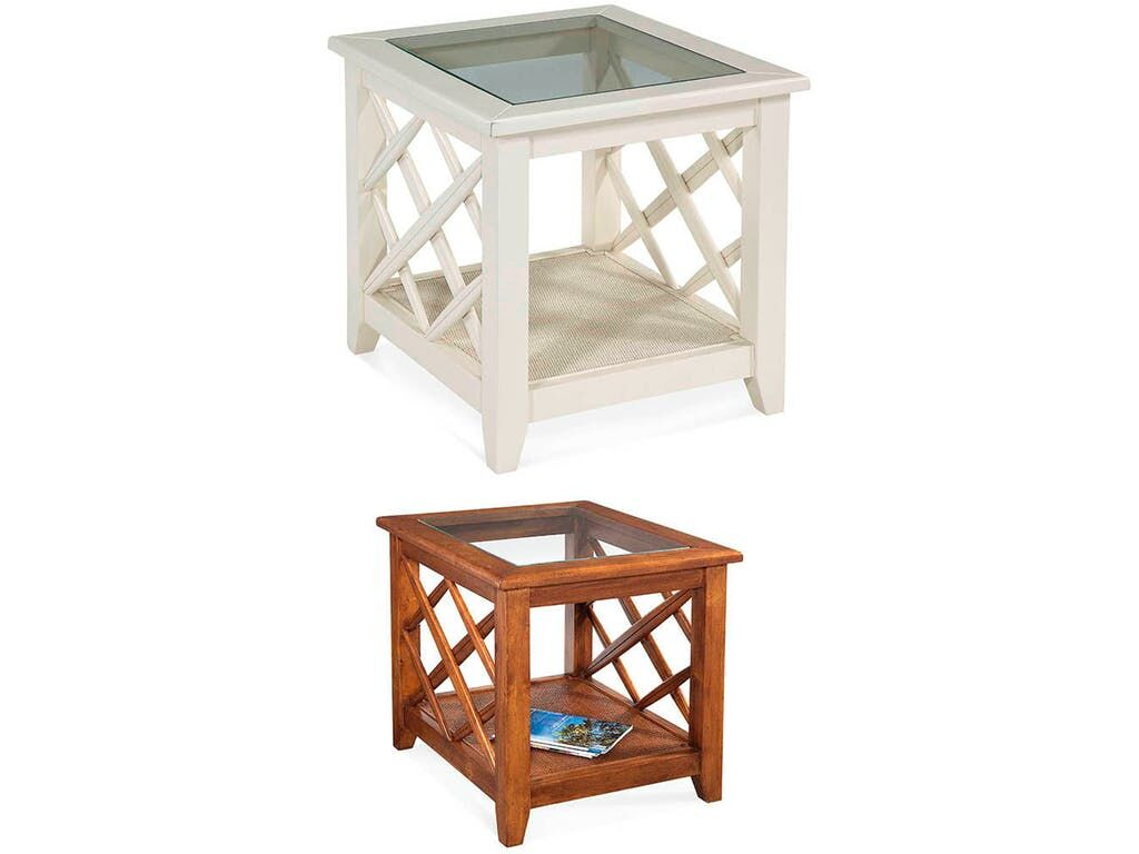 Cross Roads End Table Color: Natural