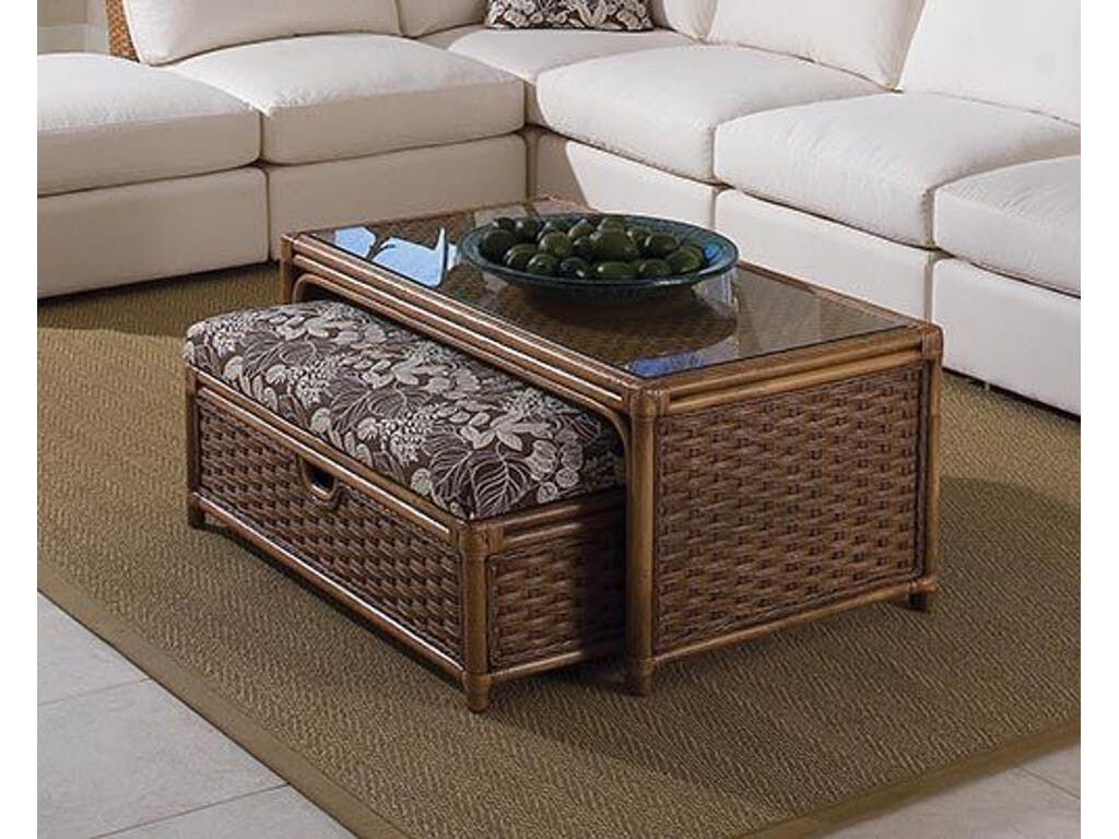 Grand Water Point Coffee Table with Bench Color: 0201-64/Natural