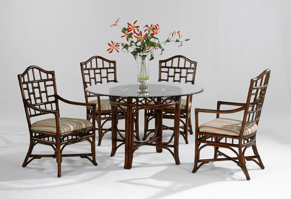 Chippendale Dining Table Color: Natural, Table Top Size: 48