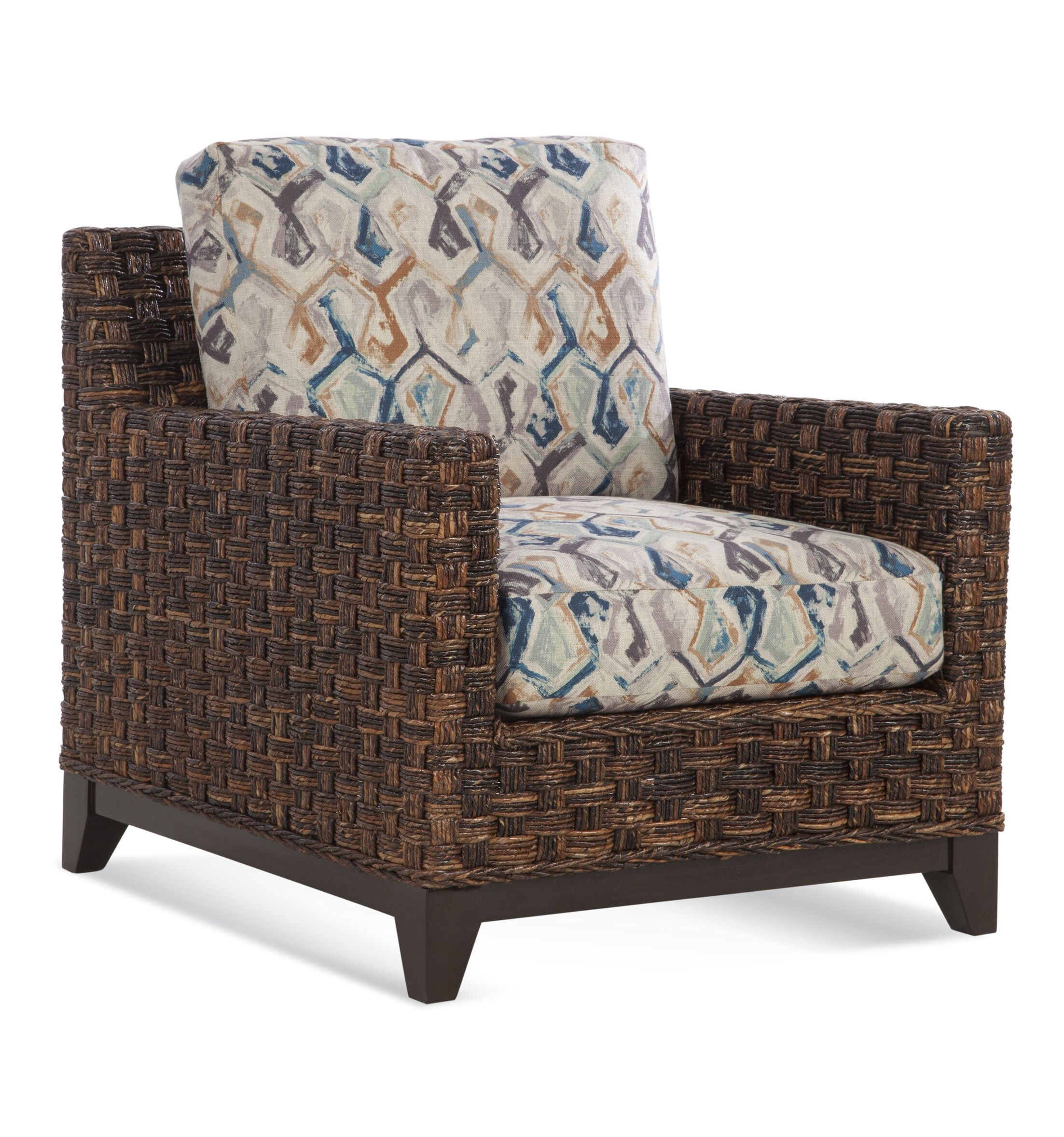 Tribeca Armchair Upholstery: Brown Chevron; 0861-74