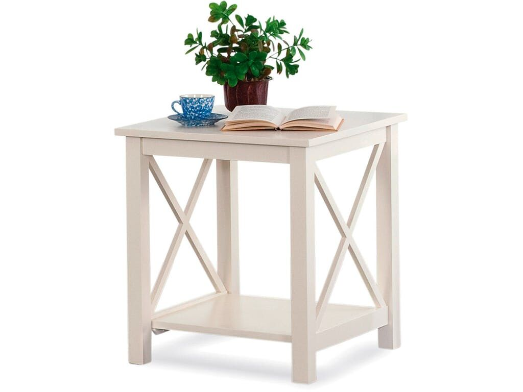 Compass End Table Color: Parchment