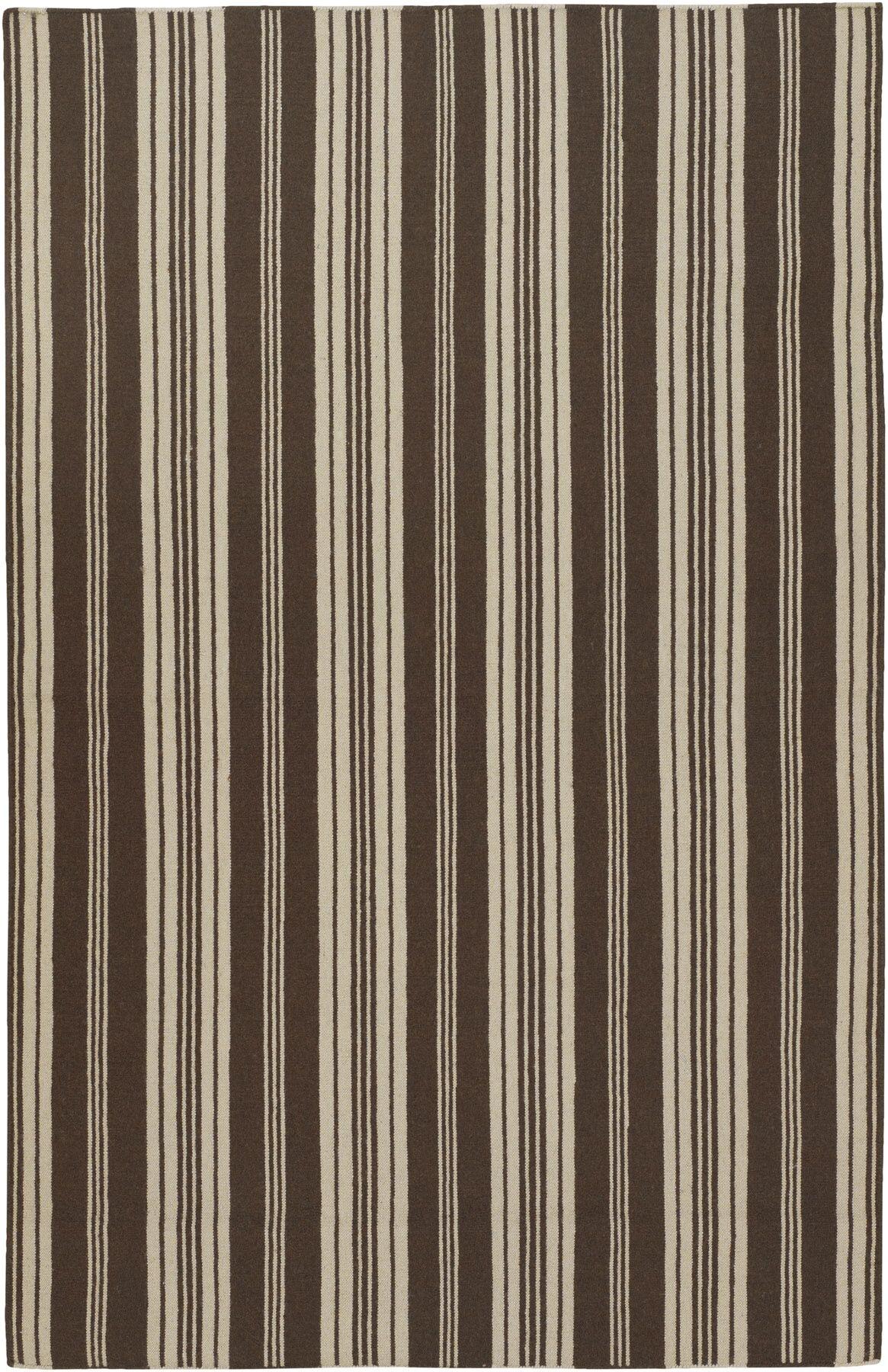 Farmhouse Stripes Hand-Woven Brown/Tan Area Rug Rug Size: Rectangle 3'6