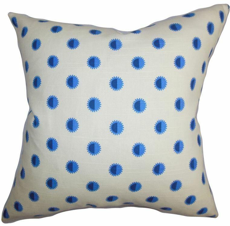 Banu Geometric Cotton Throw Pillow Size: 24