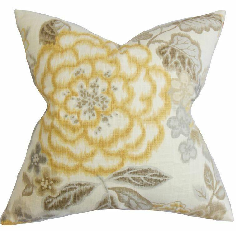 Unai 100% Cotton Throw Pillow Size: 22