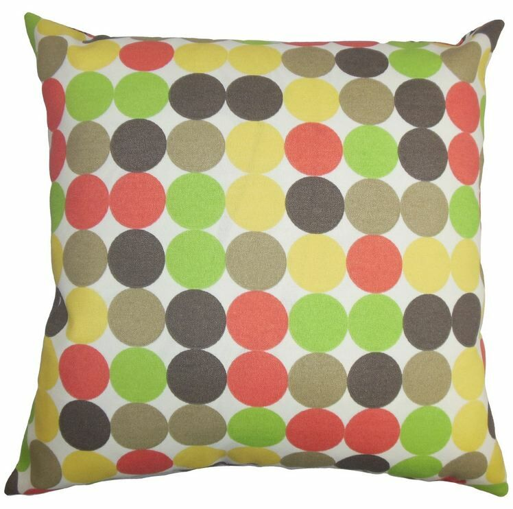 Sacnite Geometric Outdoor Throw Pillow Size: 22