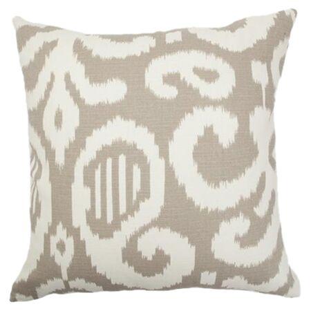 Teora Throw Pillow Color: Fog, Size: 22
