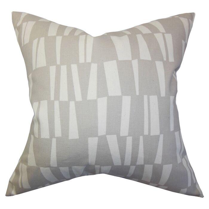 Iker Geometric Cotton Throw Pillow Color: Onyx Grey, Size: 24