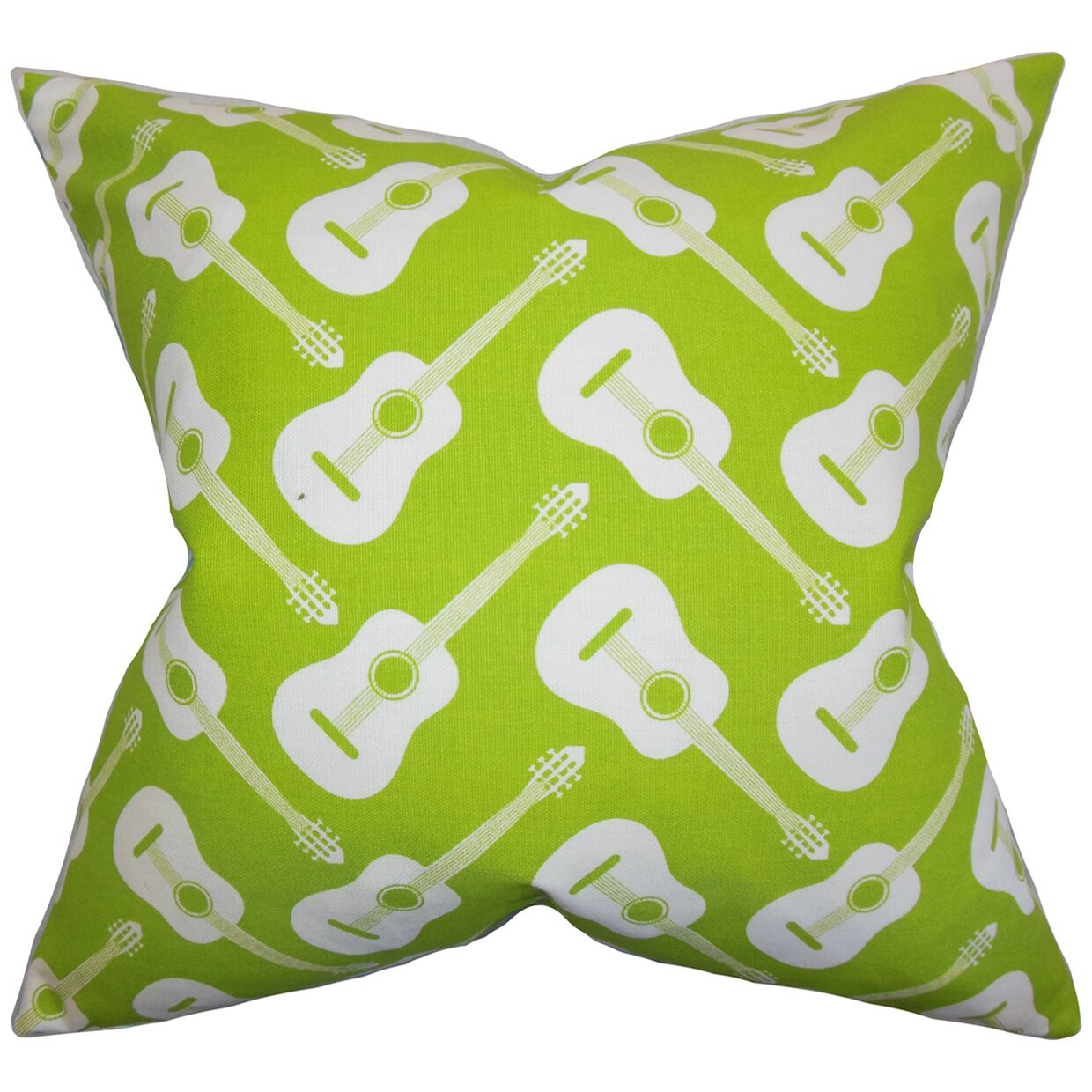 Roxie Geometric Cotton Throw Pillow Color: Chartreuse, Size: 24