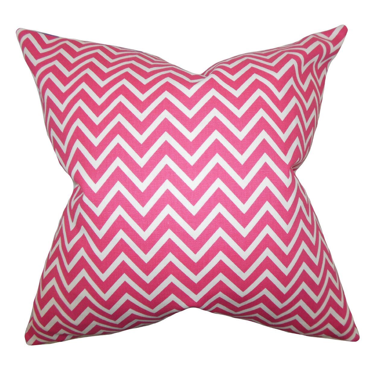 Sula Zigzag Bedding Sham Size: King, Color: Candy Pink