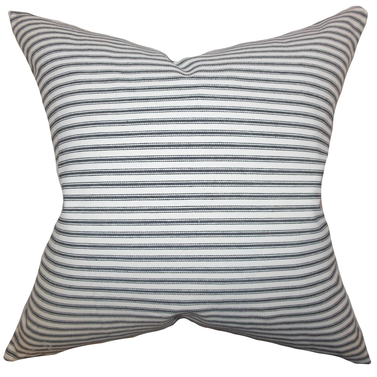 Ferebee Striped Cotton Throw Pillow Color: Gray, Size: 20