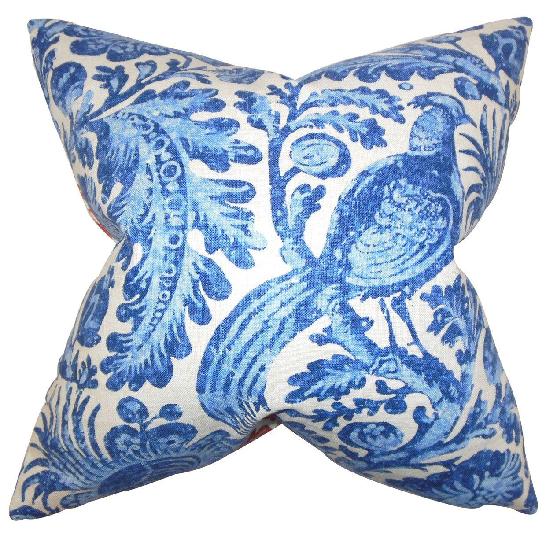 Cadeau Floral Bedding Sham Color: Blue, Size: Queen