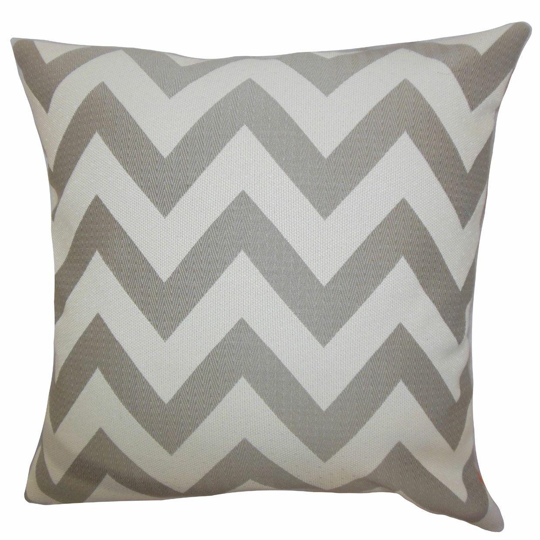 Diahann Chevron Throw Pillow Color: Gray, Size: 20
