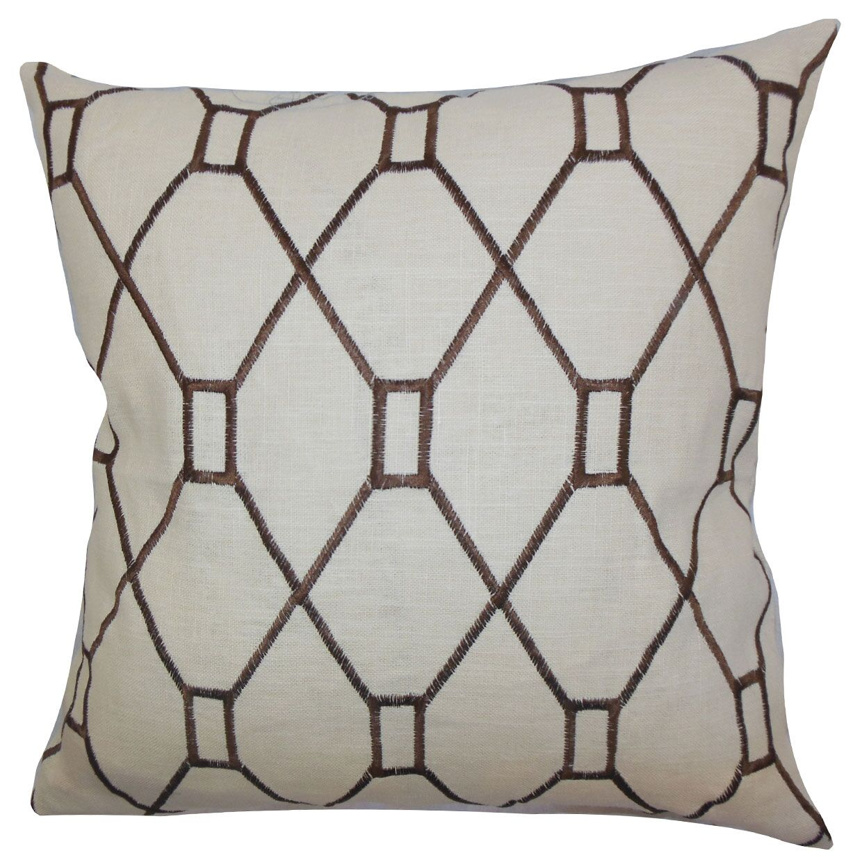Nevaeh Geometric Bedding Sham Color: Brown, Size: Standard