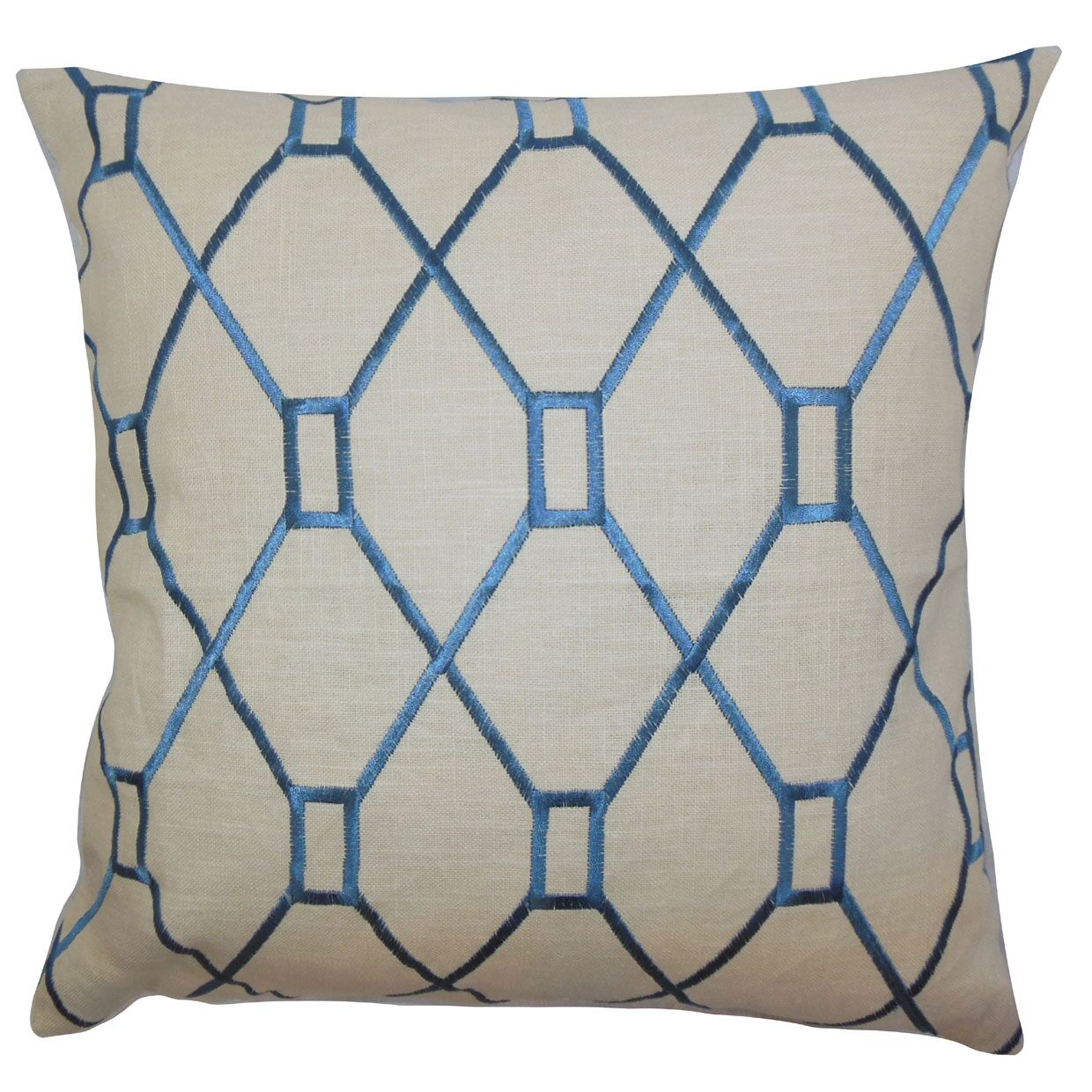 Nevaeh Geometric Throw Pillow Color: Blue, Size: 22