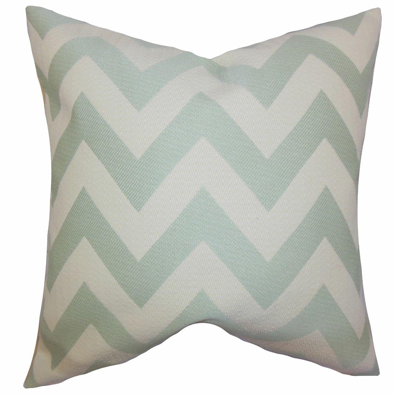 Diahann Chevron Throw Pillow Color: Jade, Size: 24