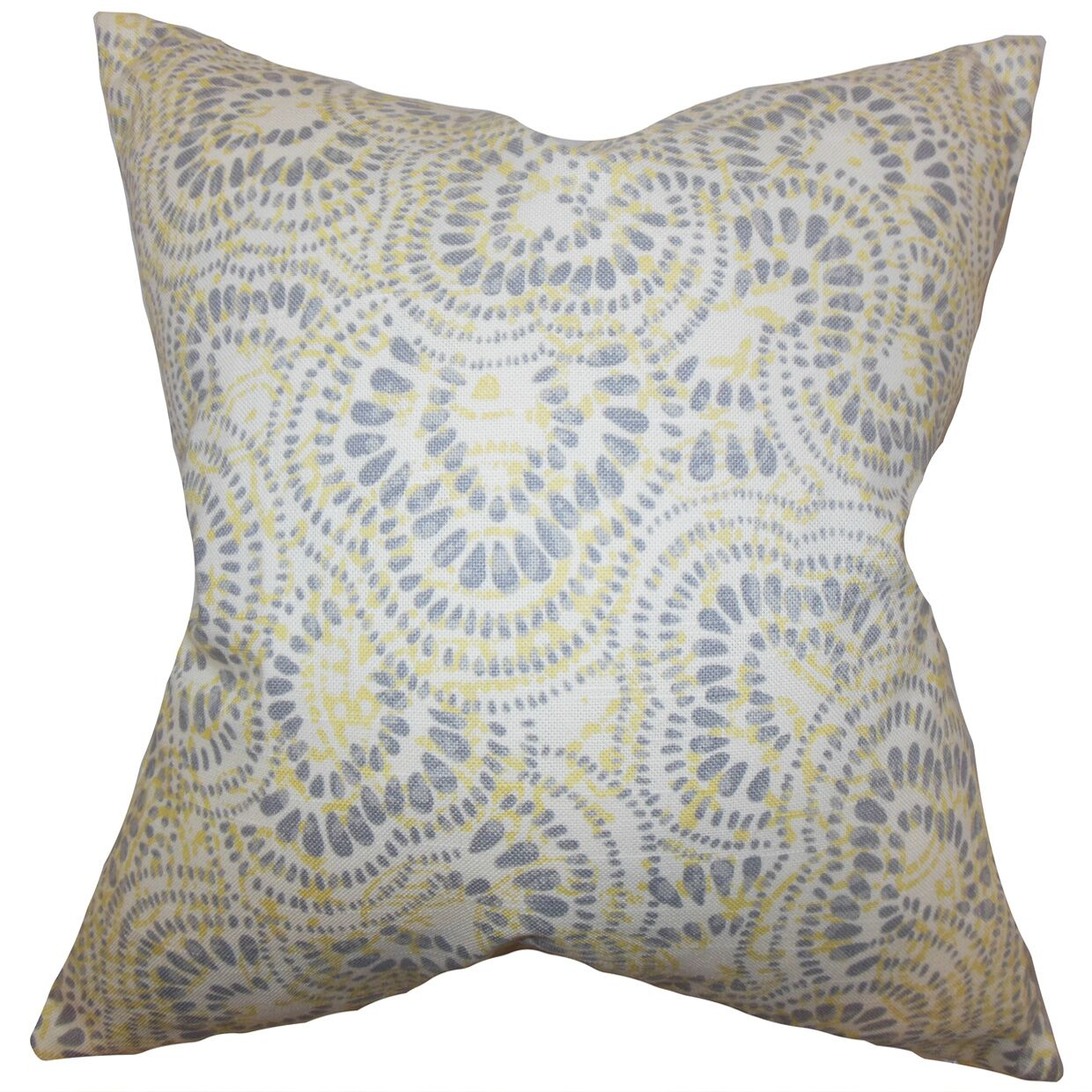 Glynis Floral Cotton Throw Pillow Color: Jonquil, Size: 22