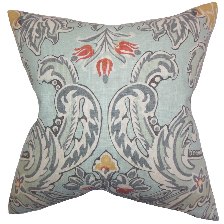 Delroy Floral Square Linen Bedding Sham Size: Queen