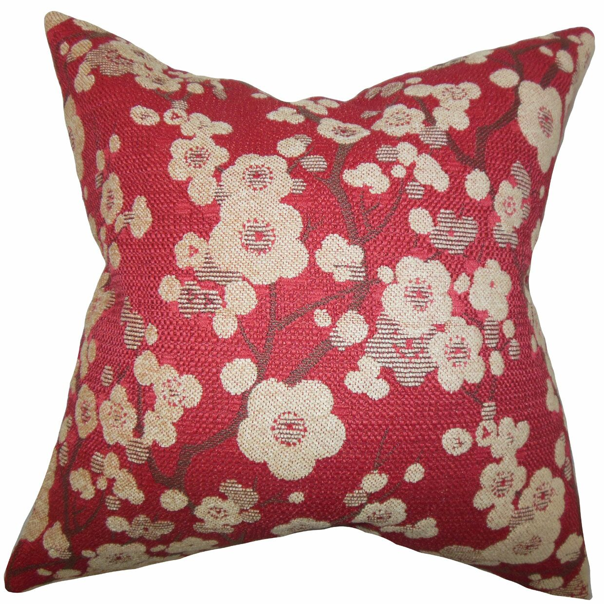 Decima Floral Velvet Throw Pillow Size: 20