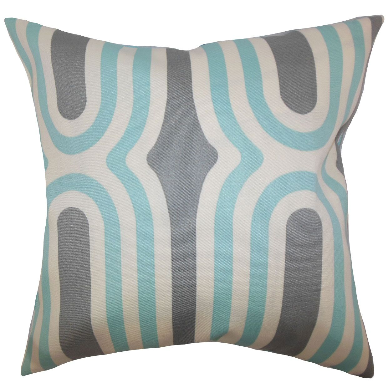 Persis Geometric Throw Pillow Color: Aquamarine, Size: 20